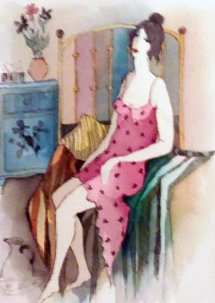 Morning Grace Watercolor 2007 by Itzchak Tarkay