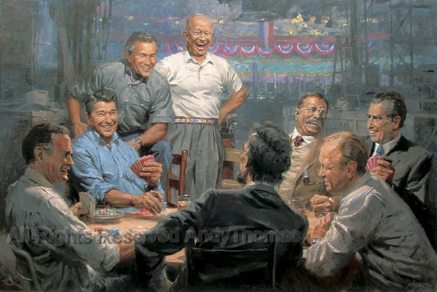 Grand Ol' Gang  Republican Presidents Playing Poker 2008