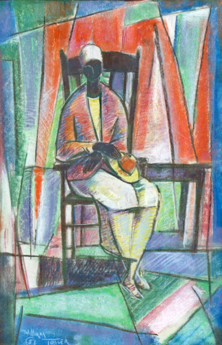 Untitled (Seated Woman) Watercolor 1987 33x25
