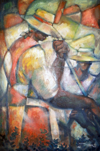 Untitled (Field Workers) 36x24
