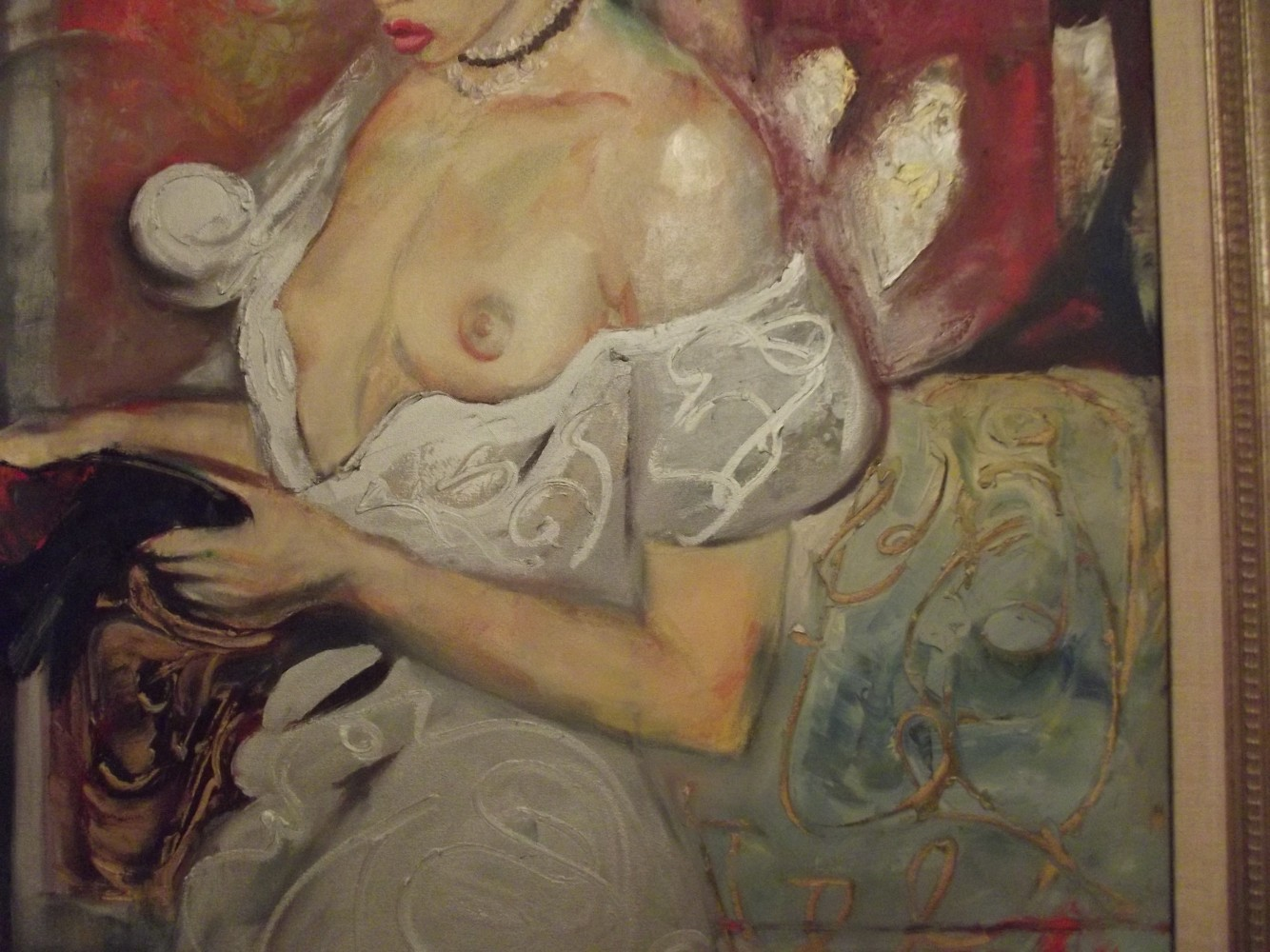 Sensuous Lady, Original Epoch 59x38 by William Tolliver