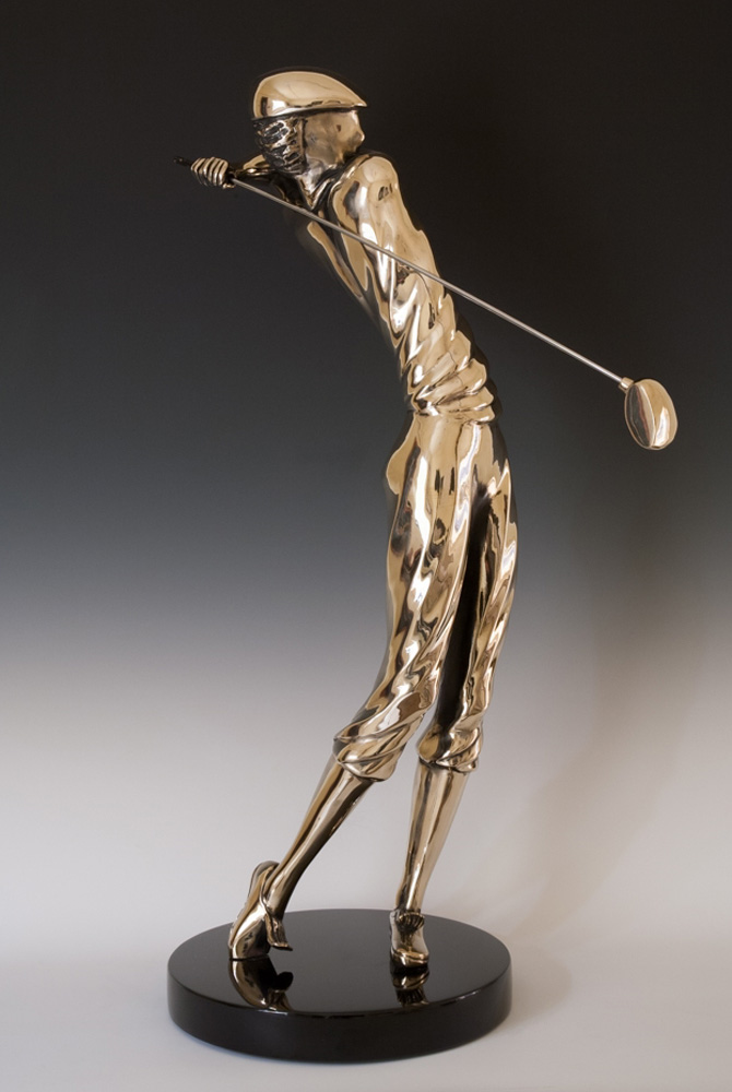 Vantage  Bronze Golf Sculpture 1987 33 in