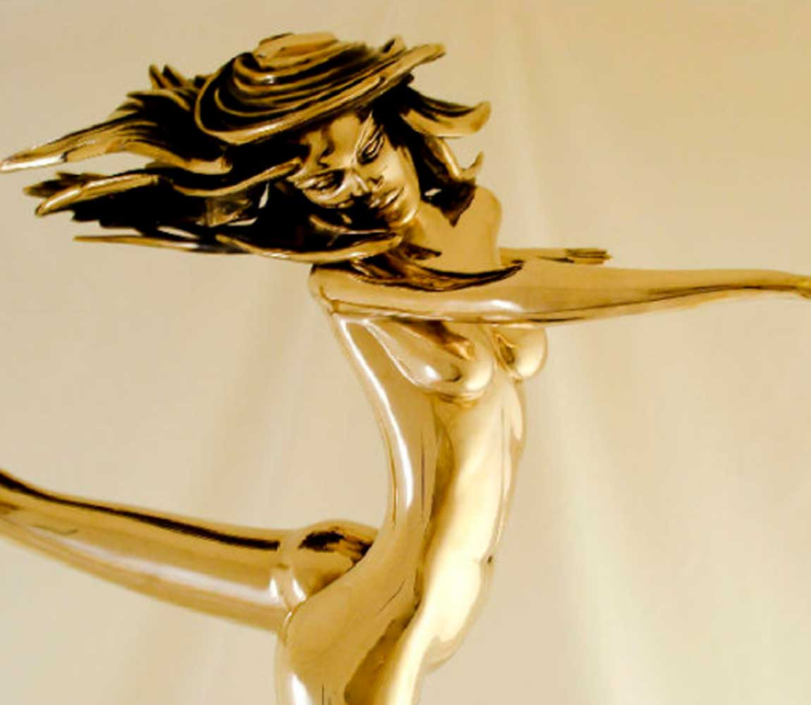 Free Spirit Bronze Sculpture 1988 29 in