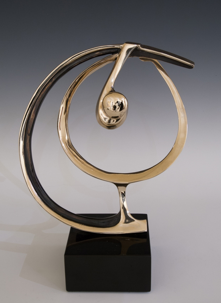 Perfect Swing Bronze Sculpture 1991 12 in