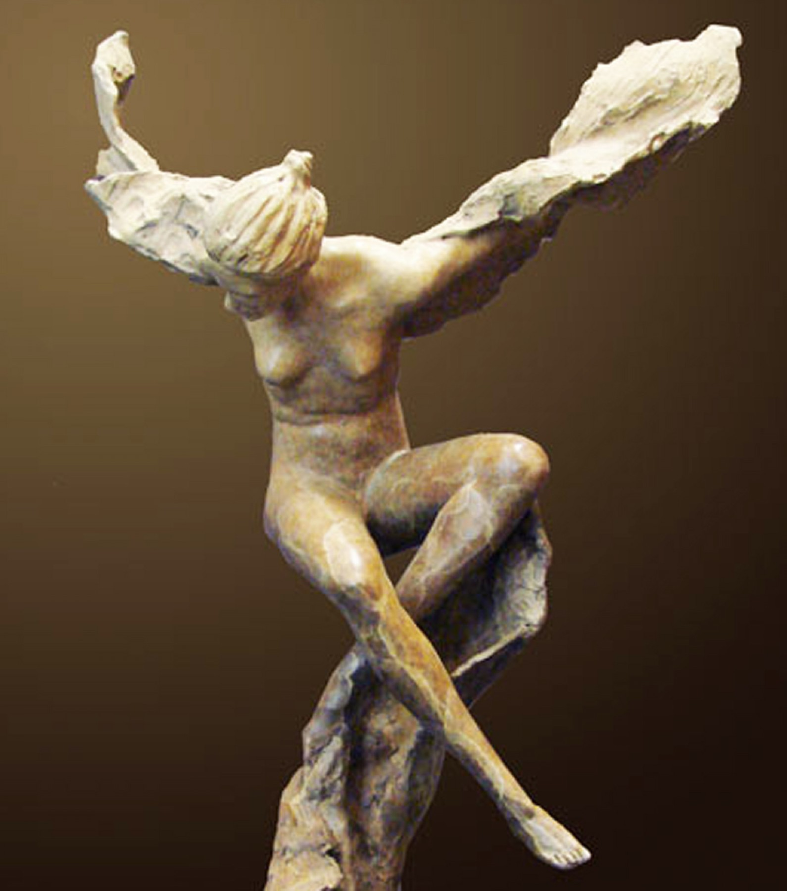 Metamorphosis Bronze Sculpture 2009 21 in