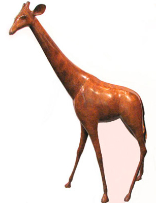 Imperial Giraffe Bronze Sculpture