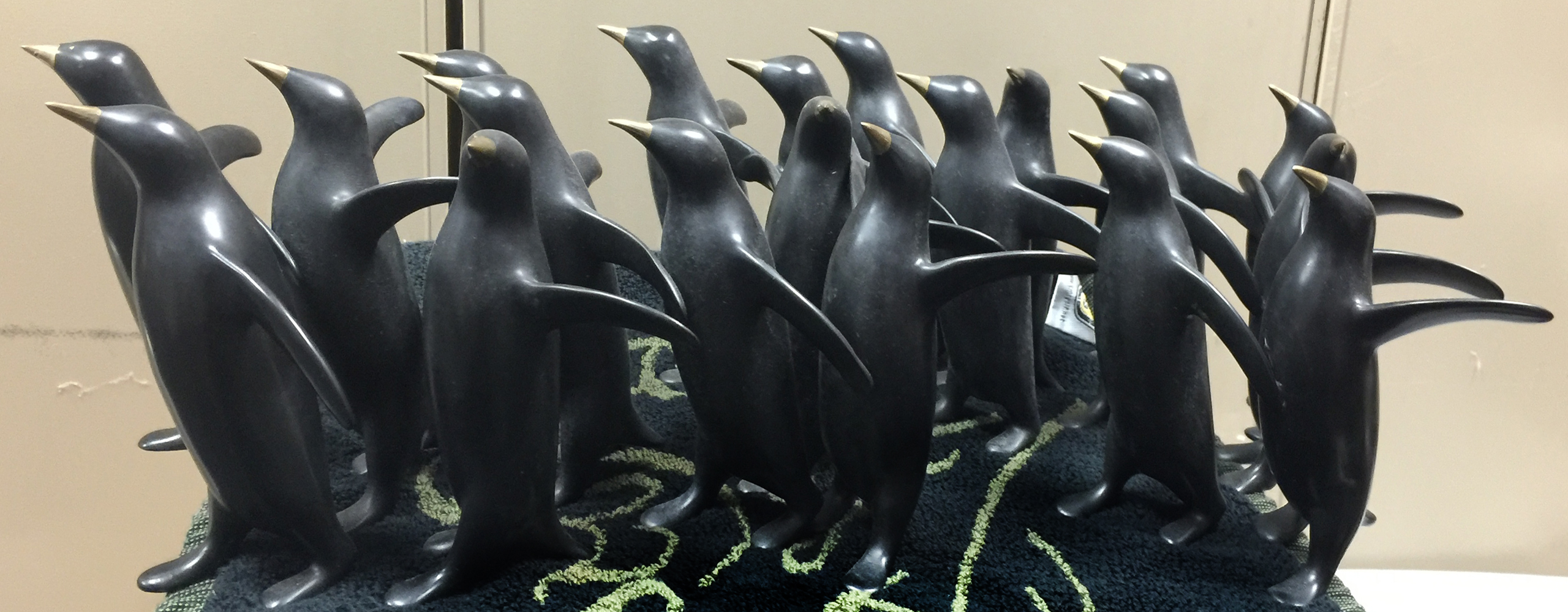 Penguin Group Bronze Sculpture