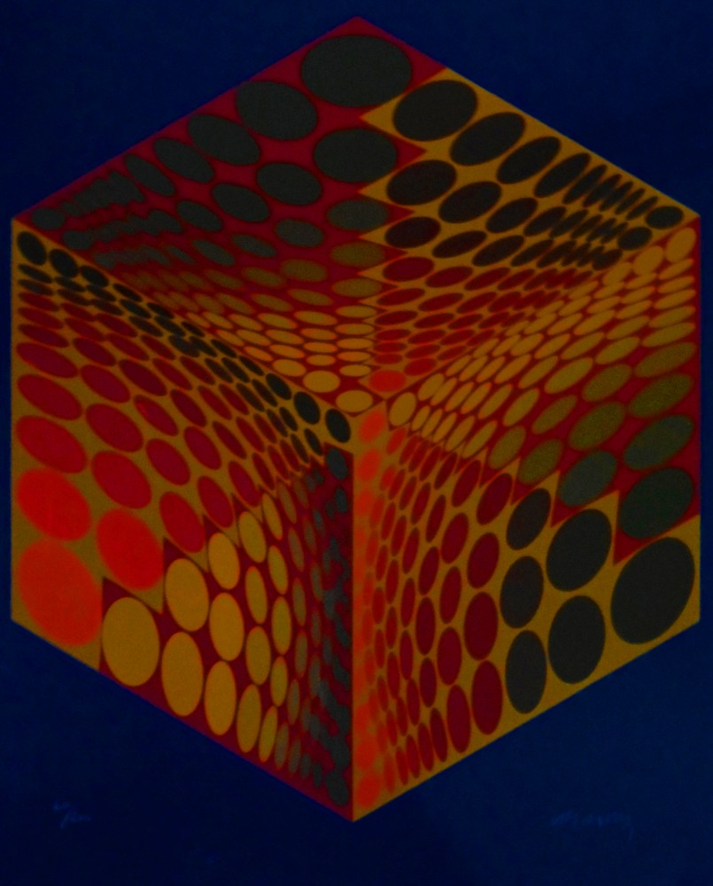 Parmenide (Orange, Red, And Blue) 1970