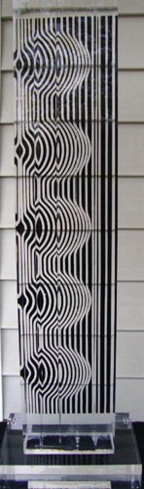 Zebra Tower Acrylic Sculpture