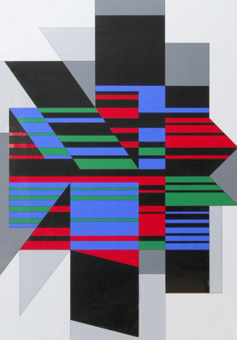 Attika 1990 47x36 by Victor Vasarely