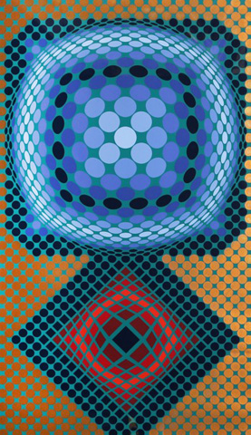 Mi-Ta 1978 46x30 by Victor Vasarely