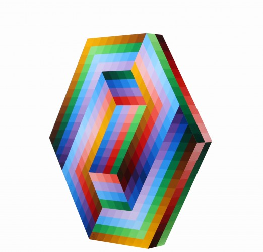 Kezdi Wood Sculpture 1989 by Victor Vasarely