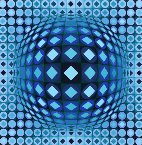 Kezdi-Ga by Victor Vasarely