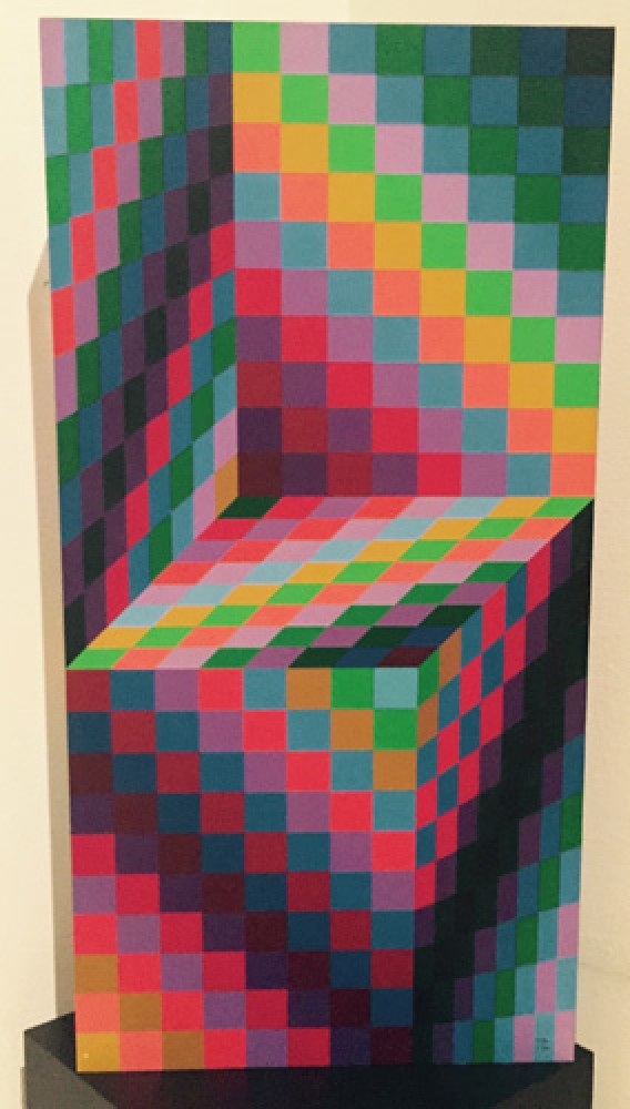 Axo 99 Painted Wood Sculpture 1988 by Victor Vasarely