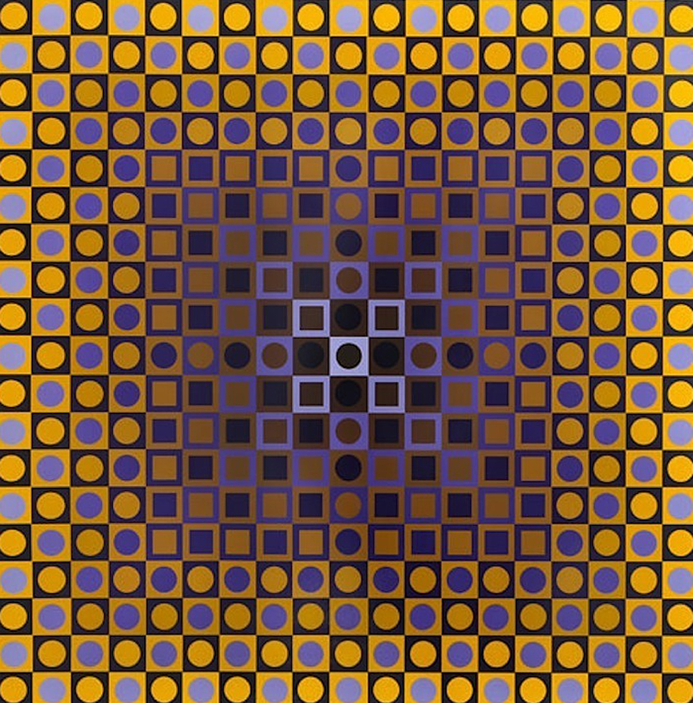 Permutations Alom 1968 by Victor Vasarely