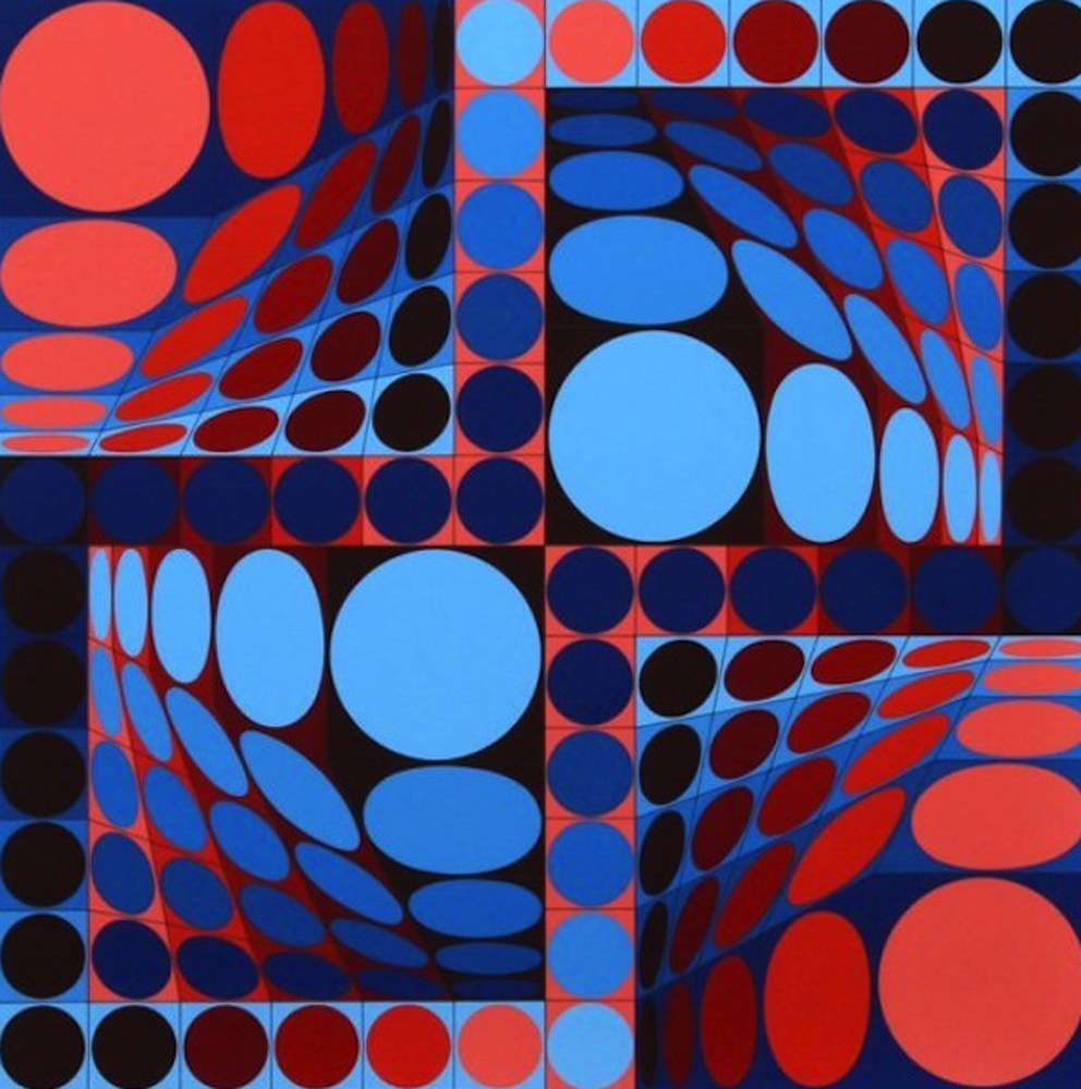 Thez II 1980 by Victor Vasarely