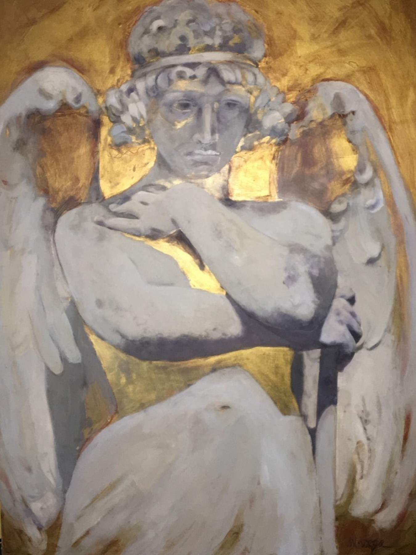 Perpetual Order Series: Recoleta Stone Angel With Gold 2011 28x38