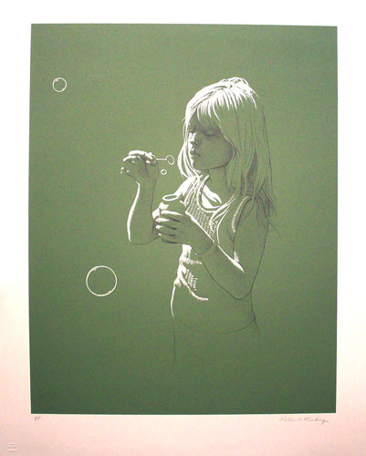 Girl Blowing Bubbles PP
