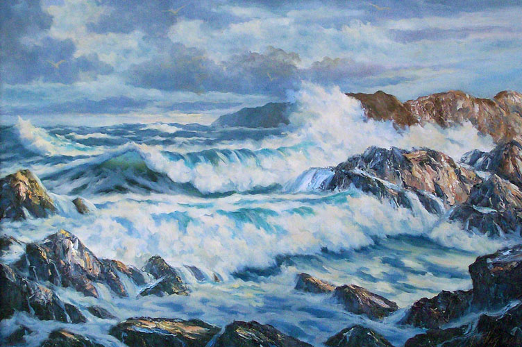 Maine Seascape With Rocks 70