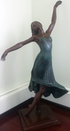 Isadora Bronze Sculpture 38 in