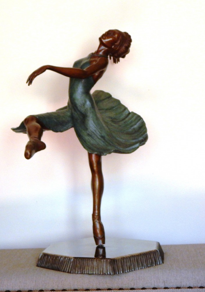 Ballerina Bronze Sculpture 28 in