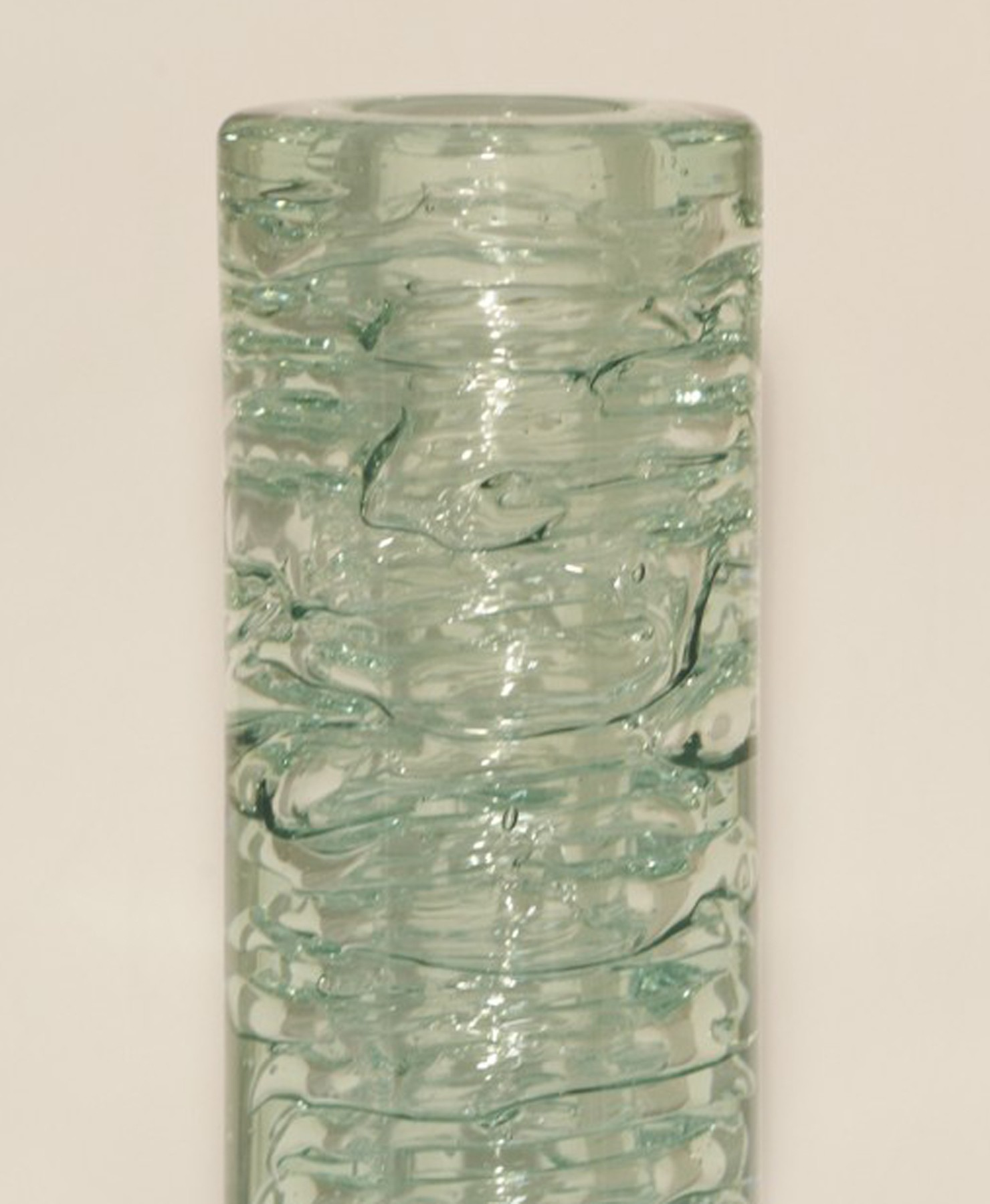 Skrdlovice Unique Glass Whirlpool  Vase 1968 13 in