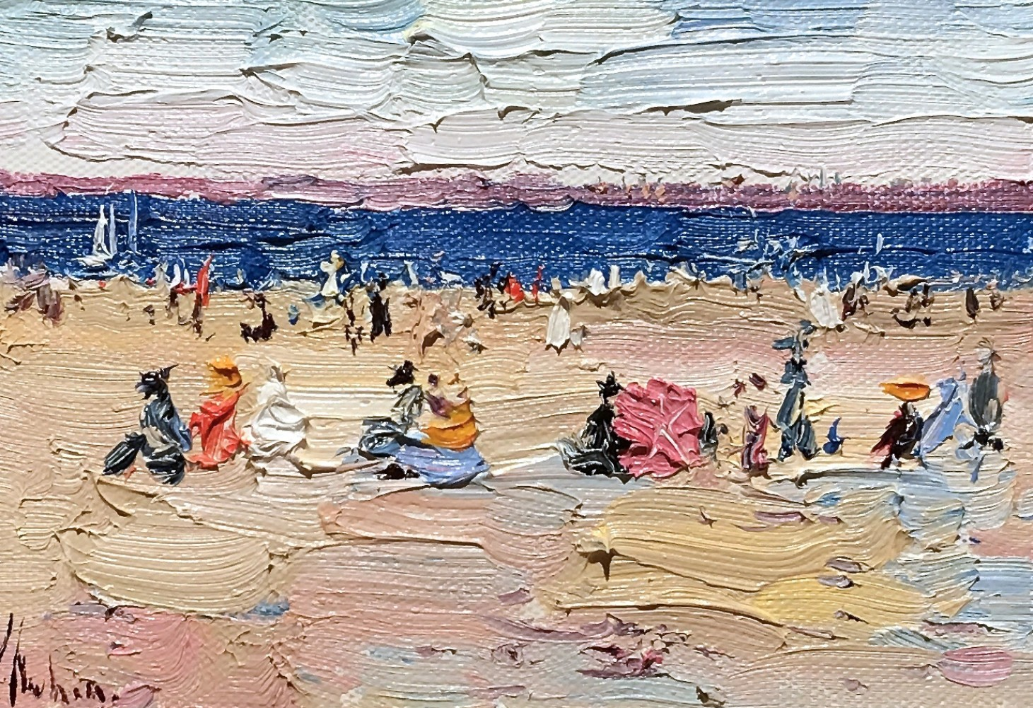 Windy Day on the Beach 20116 10x12