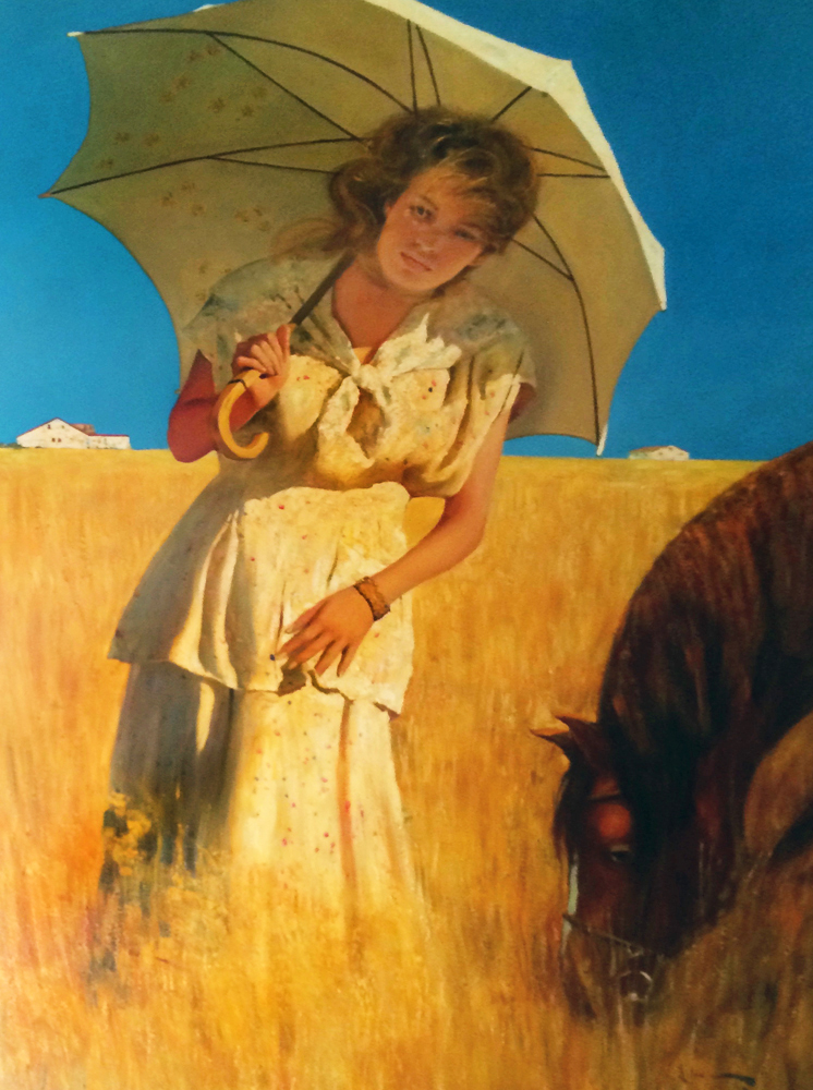 Girl on a Prairie 2006 56x46