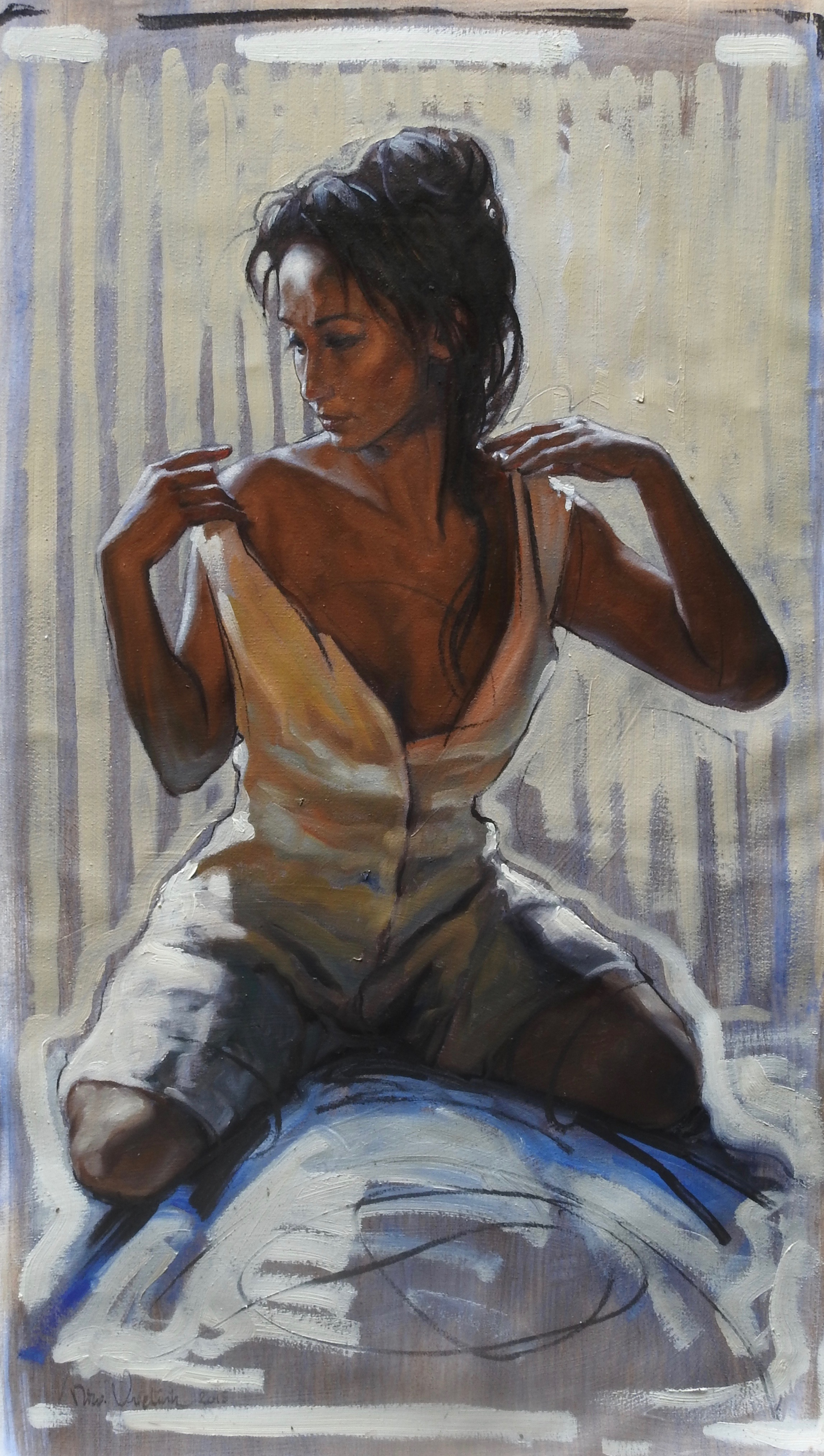 Woman Undressing Herself 2018 31x18