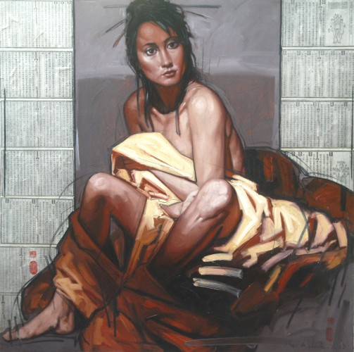 Singapore Girl in Yellow Cloth 2008 by Nico Vrielink