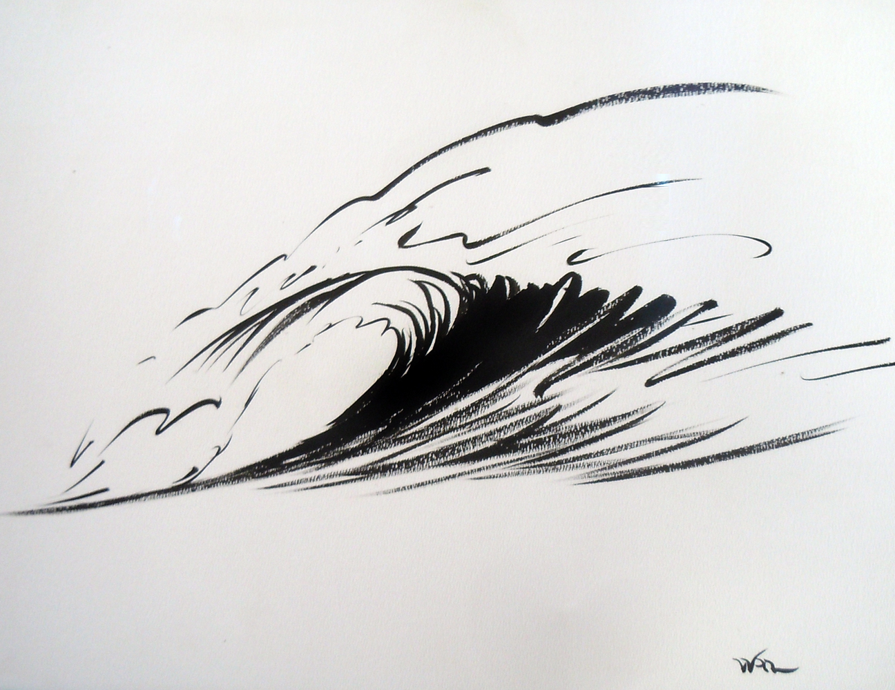 Wave Form Chinese Brush Painting 2008