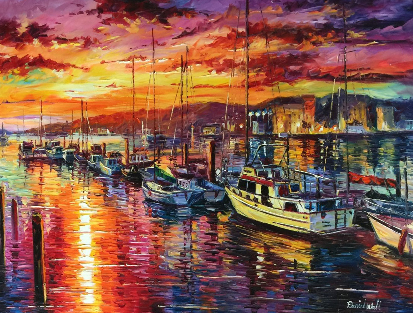 Sunset Marina 40x40