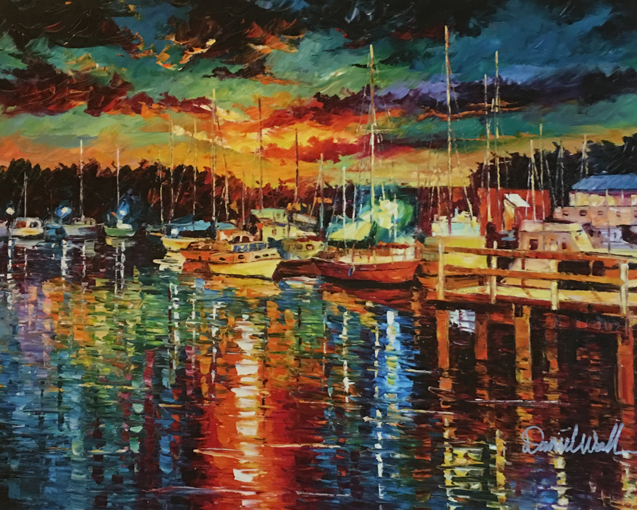 Glitter Harbor Embellished 2014 by Daniel Wall