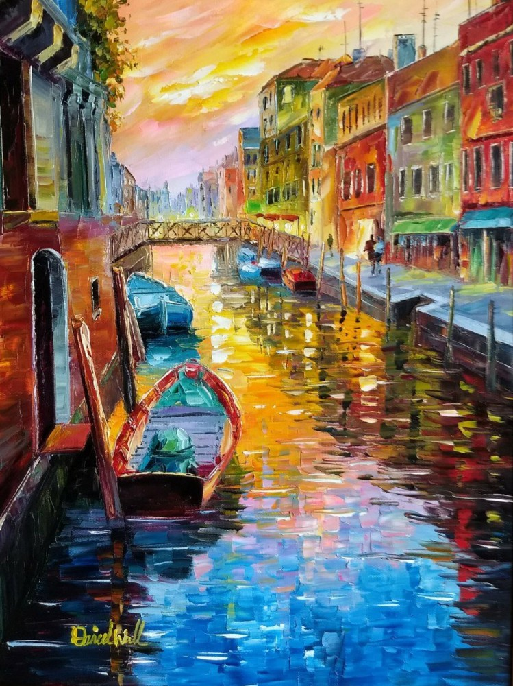 A Joyful Canal in Venice 2016 36x30