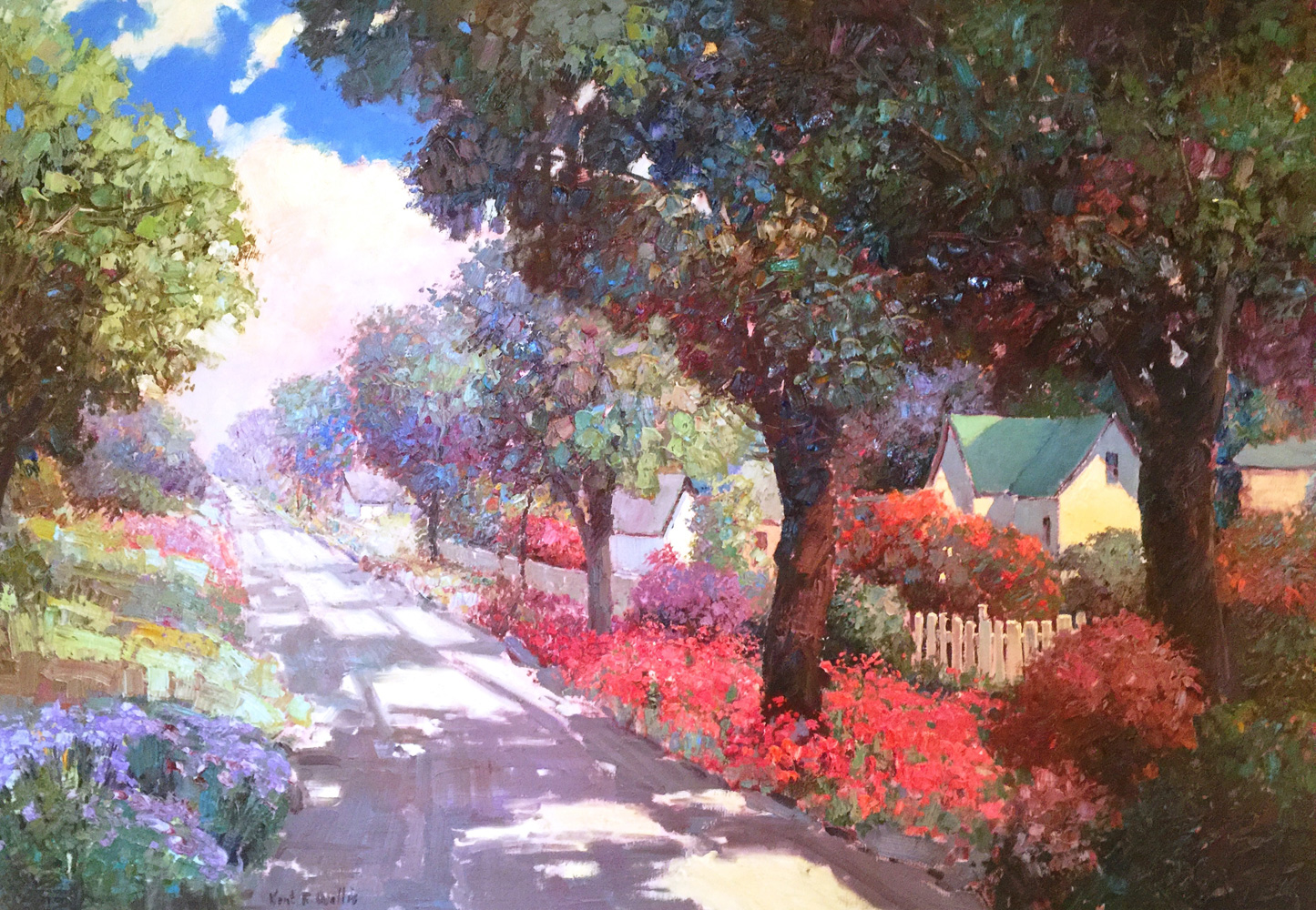 Down a Flowered Street 1991 46x67