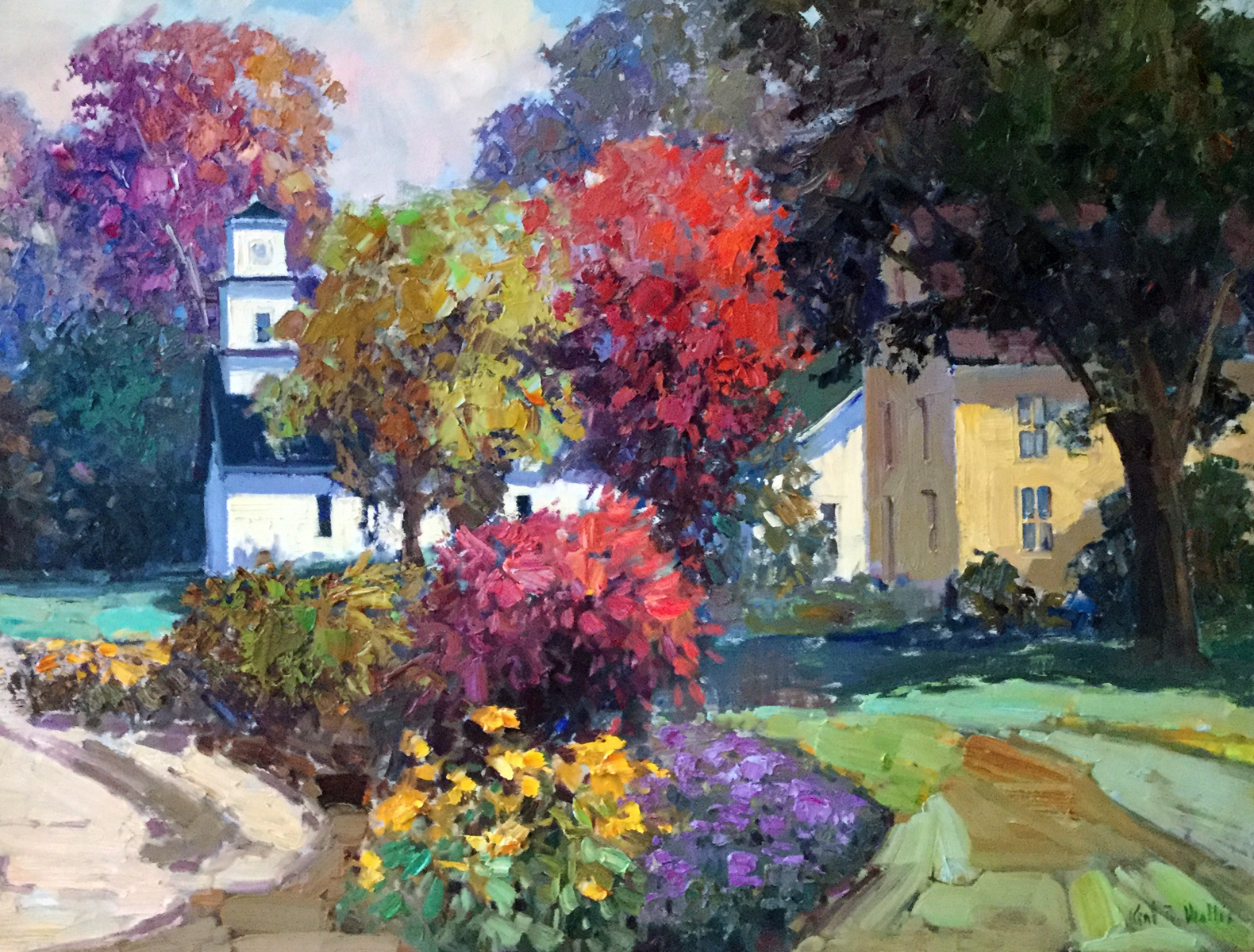 Autumn Neighborhood 1997 37x47