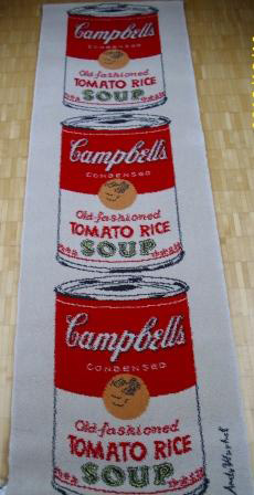 Soup: Campbell Tomato Rice Soup Tapestry 1965