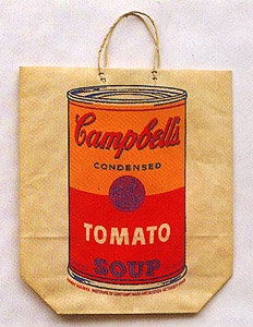 Campbell Soup Can on Shopping Bag 1966