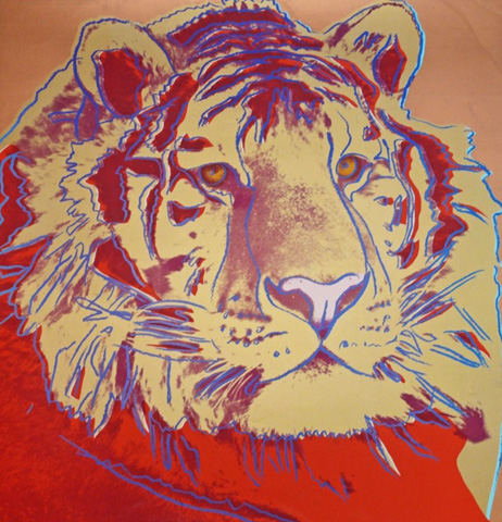 Endangered Species: Siberian Tiger TP, authenticated by Warhol Board.1982