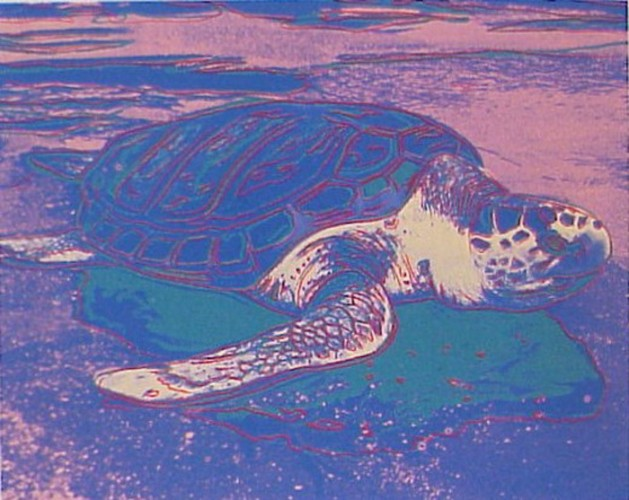 Sea Turtle 1985 FS II.360A by Andy Warhol