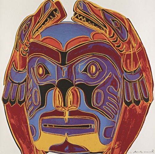 Cowboys: Northwest Coast Mask FS II.380 1986 by Andy Warhol