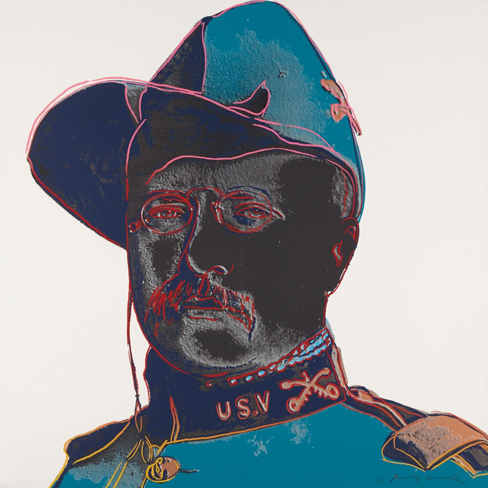 Cowboys: Teddy Roosevelt FS II.386 by Andy Warhol