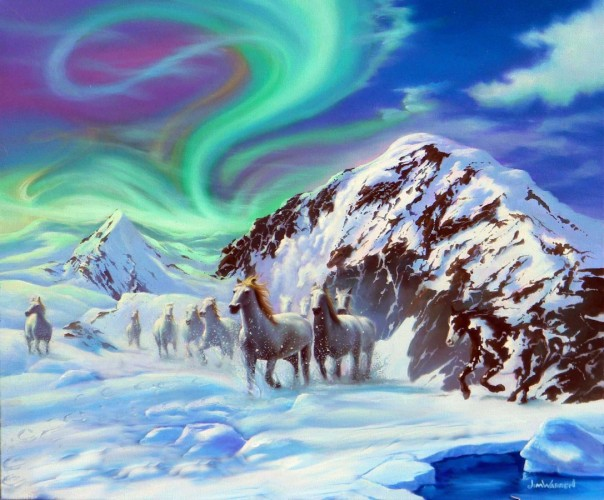 Northern Dreams, Alaska 2013 20x24 by Jim Warren