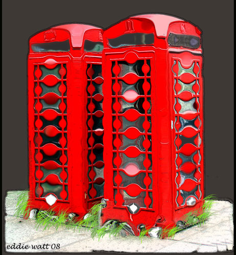 Phone Boxes in Love Suite of 3 2008