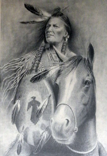 Indian Chief on Horse
