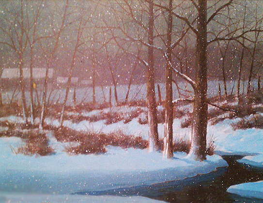 Midnight Snow 1984 27x33