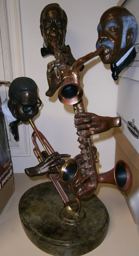 Pure Jazz Bronze Sculpture 1986 30 in