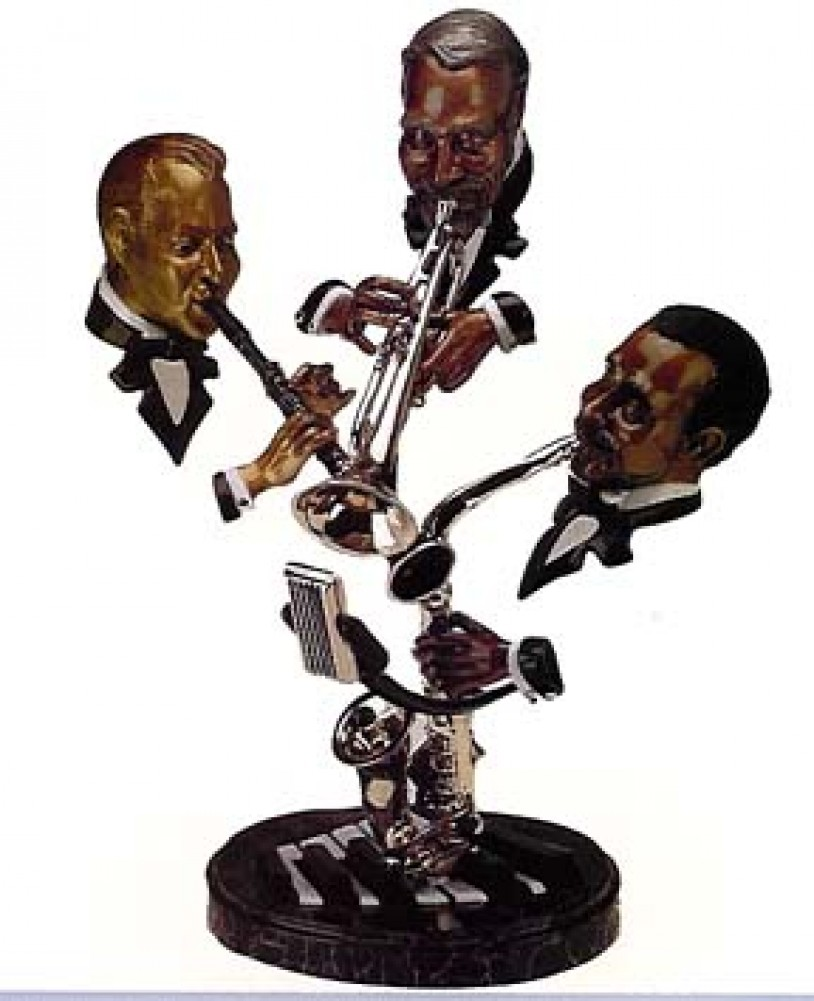 Sunday Morning Jazz Bronze Sculpture 29x23x25