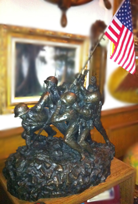 Iwo Jima Memorial Bronze Sculpture 37 in