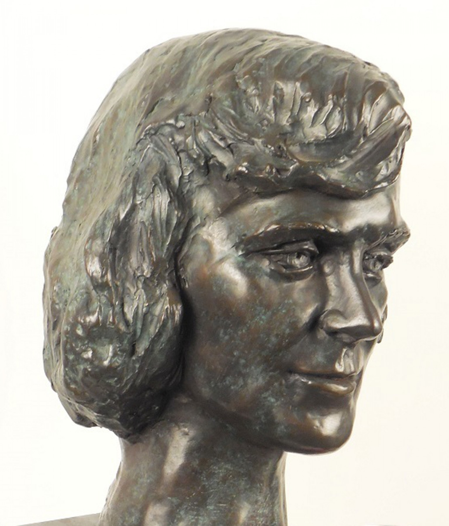 Young Woman Bronze Life Size Sculpture 1982